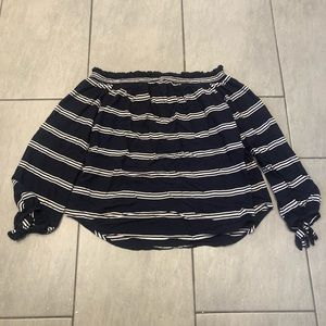 BeachLunchLounge Off The Shoulder Top Striped